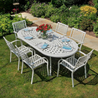 CATHERINE Tisch - Weiß (6 Personen Set)
