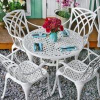 HANNAH Tisch - Weiß (4 Personen Set)