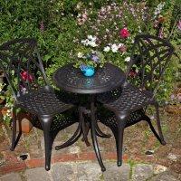 ELLA Bistro Tisch - Antik Bronze (2 Personen Set)