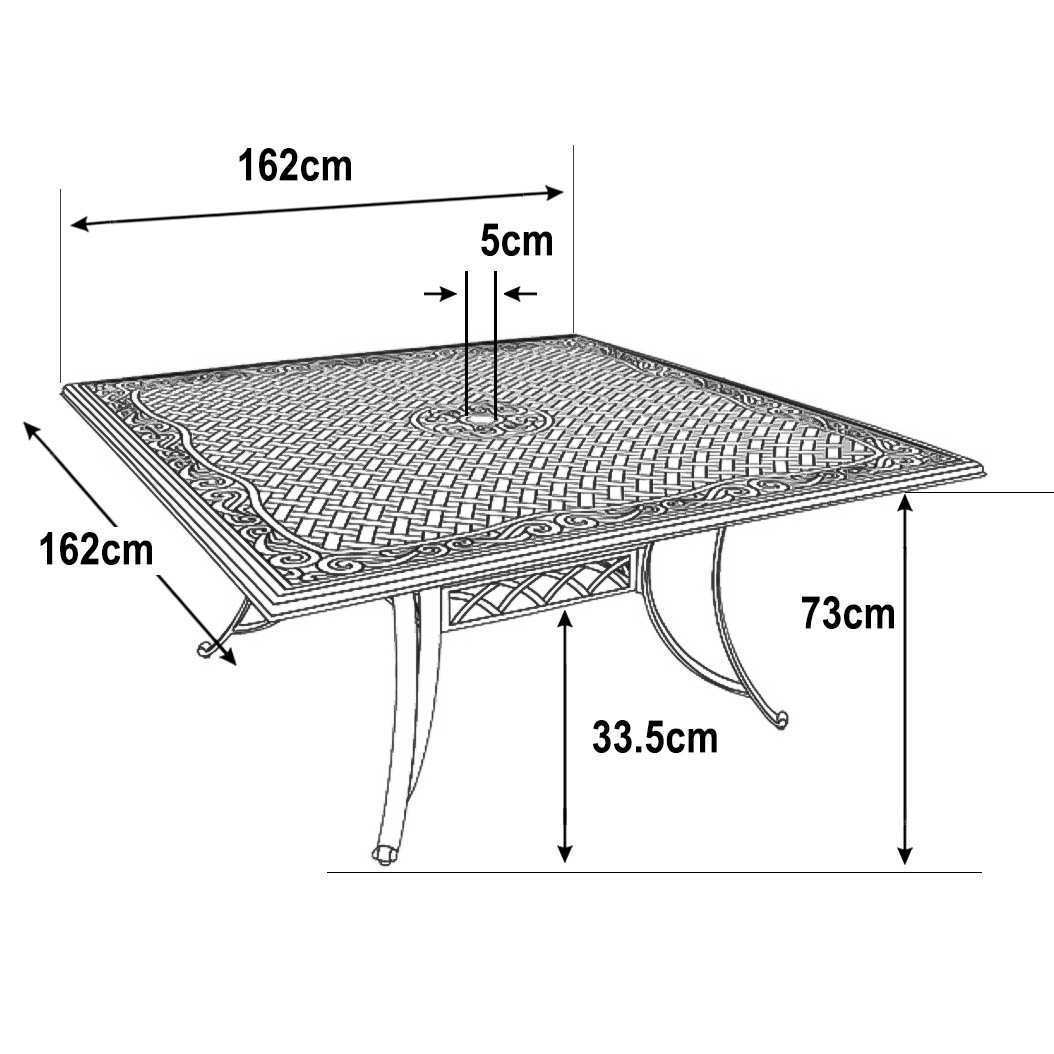 Aluminium Garden chair dimensions