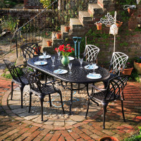 Catherine Table - Antique Bronze (6 seater set)
