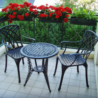Ivy Bistro Table - Antique Bronze (2 seater set)