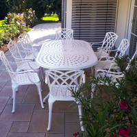 CATHERINE Tisch - Weiß (8 Personen Set)