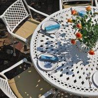 FRANCES Tisch - Weiß (8 Personen Set)