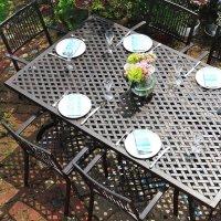 SOPHIA Tisch - Antik Bronze (6 Personen Set)