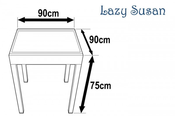 RUBY Schwarz (6 Personen Set) 90 180 cm rechteckiger Aluminium & Glas Balkontisch