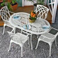 ELISE Tisch - Weiß (4 Personen Set)