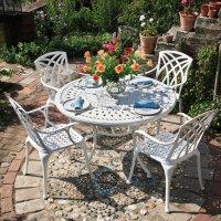 ALICE Tisch - Weiß (4 Personen Set)