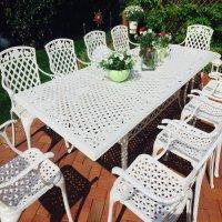 VANESSA Tisch - Weiß (10 Personen Set)