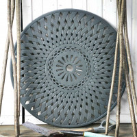 LAZY SUSAN Drehplatte Gitterdesign 90 cm - Schiefergrau
