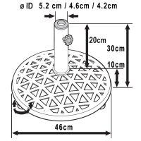 Schiefergrauer Metall Sonnenschirmständer