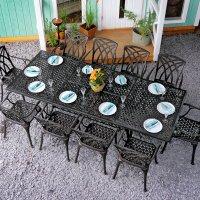 Extending garden table set 1