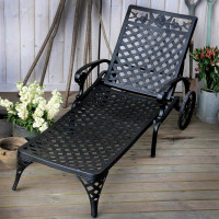 Rose Gartenliege - antik bronze Aluminium Terrassenmöbel