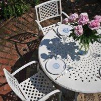 AMY Tisch - Weiß (6 Personen Set)