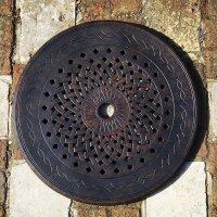 LAZY SUSAN Drehplatte Modern 80 cm - Antik Bronze