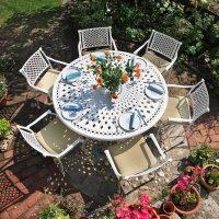 FRANCES Tisch - Weiß (6 Personen Set)