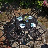 MIA Tisch - Antik Bronze (4 Personen Set)