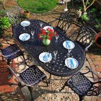 CATHERINE Tisch - Antik Bronze (8 Personen Set)