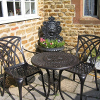 EVE Bistro Tisch - Antik Bronze (2 Personen Set)