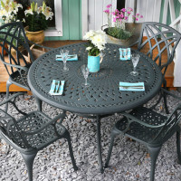 ALICE Tisch - Schiefergrau (4 Personen Set)