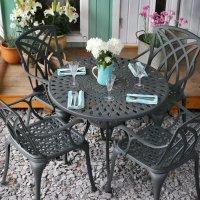 MIA Tisch - Schiefergrau (4 Personen Set)