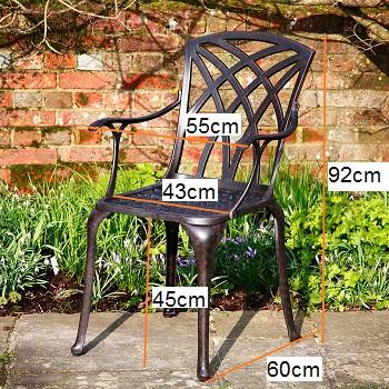April garden chair dimensions