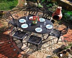 Metall Gartenmöbel für 6