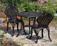 2 Sitzer Bistro & Beistell Tische aus Metall