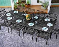 Metall Gartenmöbel für 10+