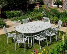 Metall Gartenmöbel Für 8