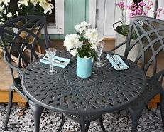 Gartenmöbel aus Metall und Aluminium