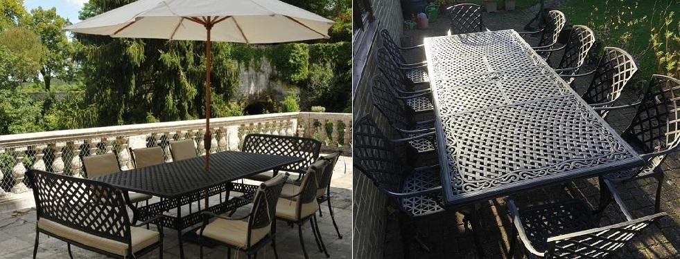10+ Sitzer XL Outdoor Metall Banketttische | übergroße Metall ...