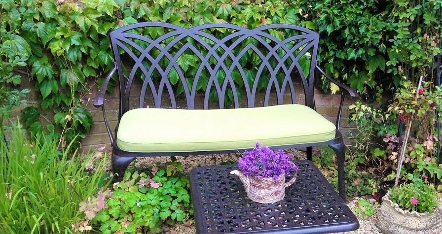 outdoor sitzkissen terrassenm bel auflagen metall. Black Bedroom Furniture Sets. Home Design Ideas
