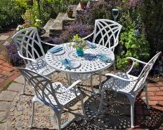 Metall Gartenmöbel für 4