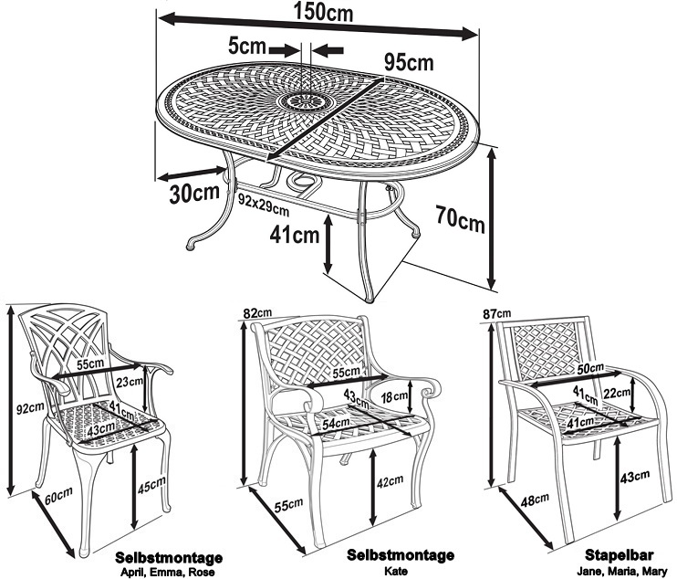 June Table Dimensions